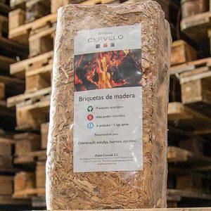 Briqueta de madeira quadrada
