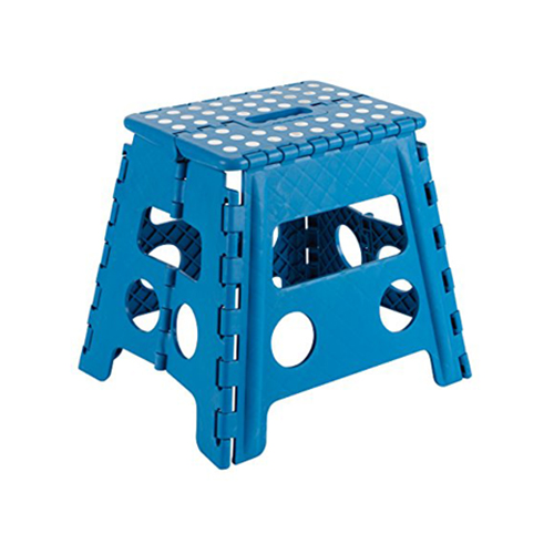 Escadote dobrável azul