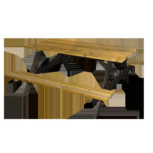 Mesa de piquenique em madeira